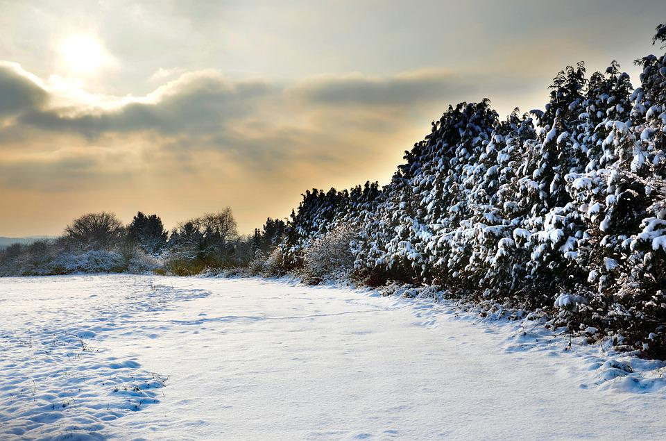 Countryside, Snow, Winter, Nature, Landscape, Sky