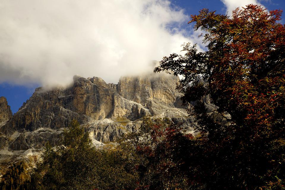 South Tyrol, Dolomites, Mountains, Nature, Clouds, Sky