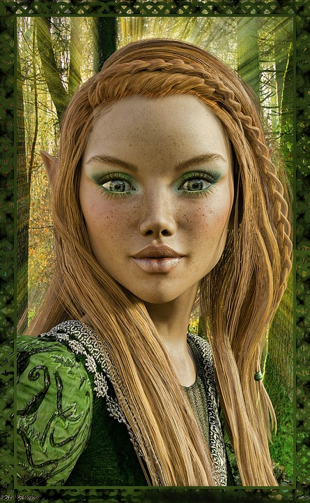Spring Witch, Nature, Elves, Magic, Spring, Woman, Elf