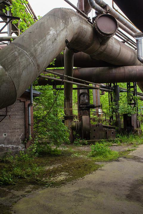Steel Mill, Industry, Nature, Industrial Plant