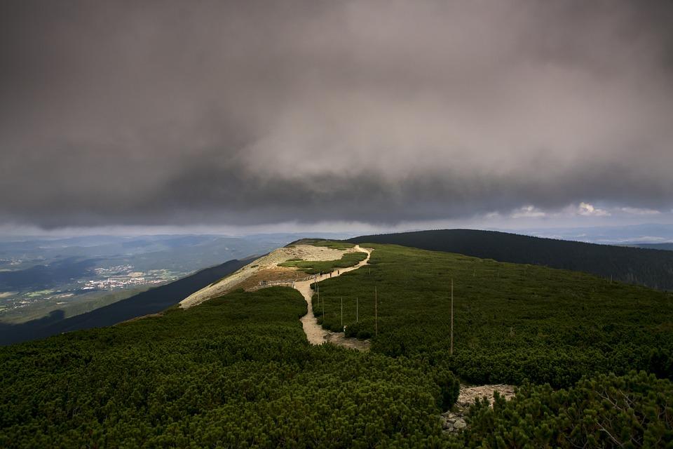 Landscape, Mountain, Sky, Nature, Clouds, Storm