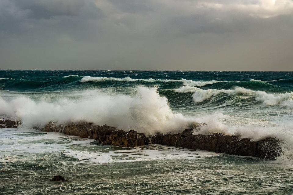 Waves, Crashing, Coast, Rock, Rocky, Nature, Storm