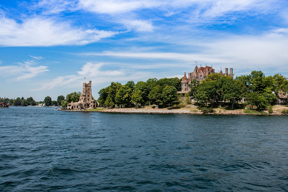 Waters, Travel, Nature, Panorama, Summer, Castle, Usa