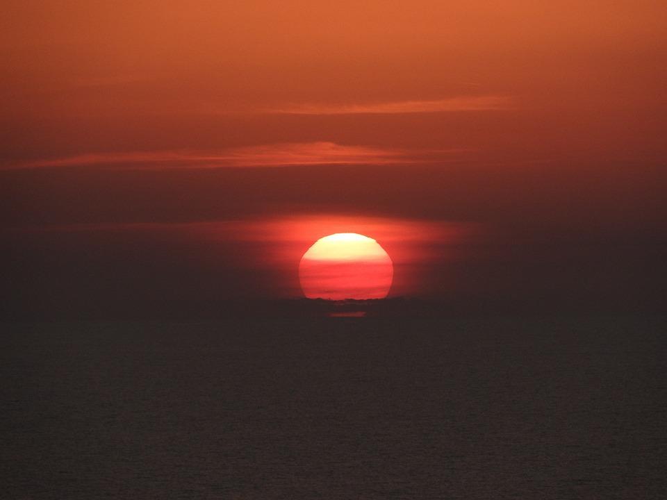 Sunset, Caribe, Water, Sea, Nature, Sky, Summer