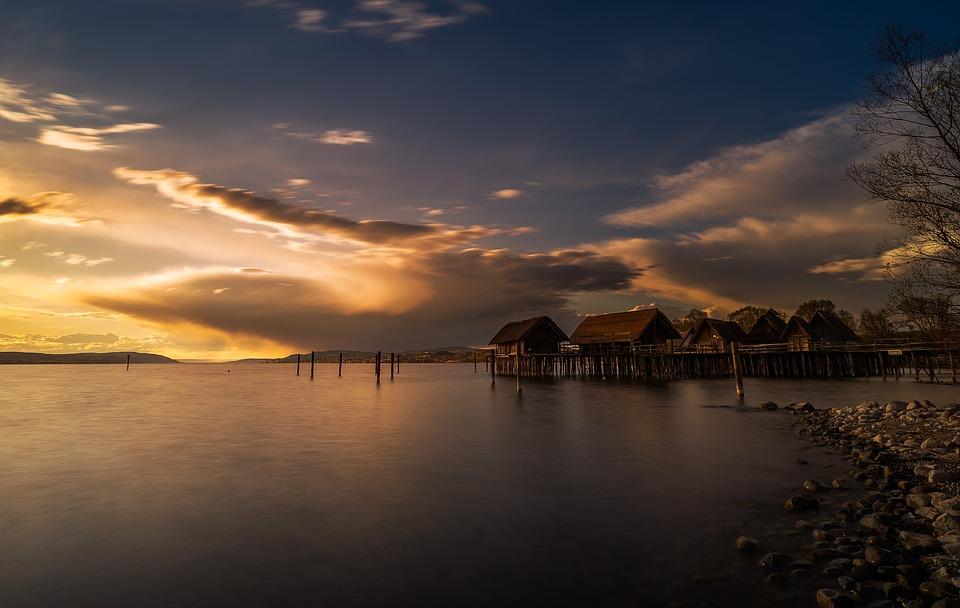 Sunset, Waters, Dusk, Nature, Lake, Sun, Panorama