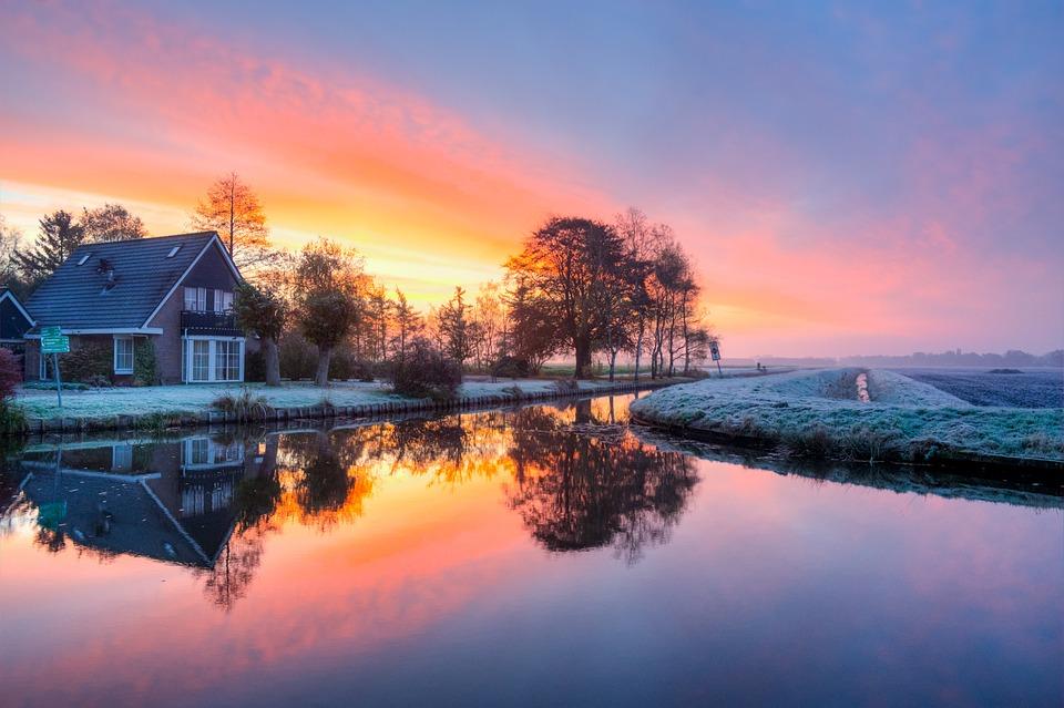 Morning, Sunrise, Colorful, Landscape, Nature, Sun