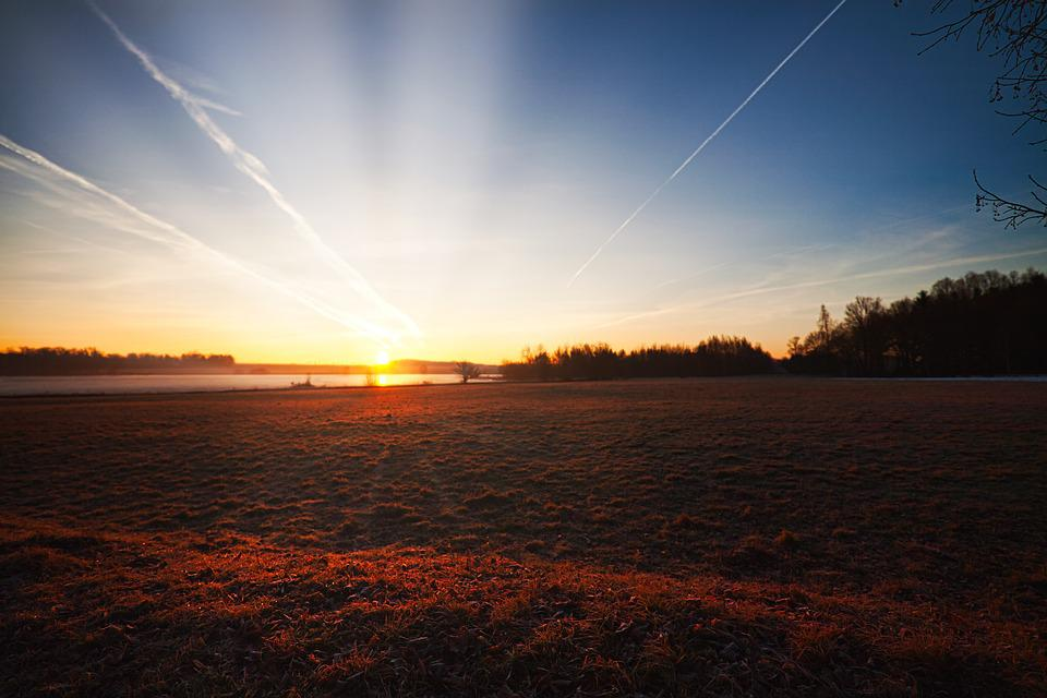 Sun Rising, Morning Sun, Landscape, Nature