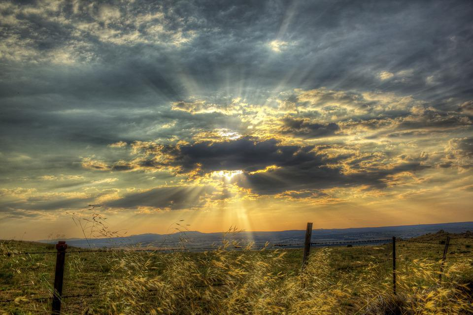 Sunset, Sky, Clouds, Sun, Nature, Horizon, Dusk