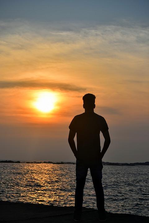 Sunset, Sun, Dawn, Sea, Beach, Water, Dusk, Nature