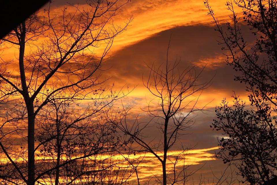 Sunrise, Sunrise In Salt Lake City, Utah, Nature, Color