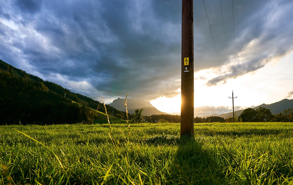 Sunset, Nature, Landscape, Energy, Current, Charge