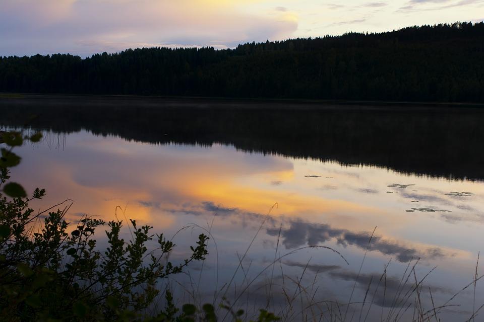 Sweden, More, Sunset, Landscape, Forest, Nature, Air