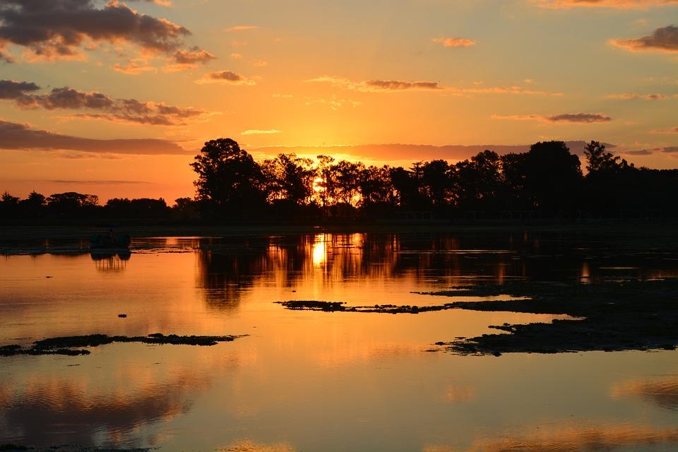 Landscape, Sunset, Nature, Laguna