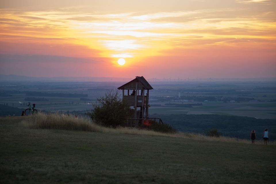 Sunset, Nature, Mountain, Landscape, Abendstimmung