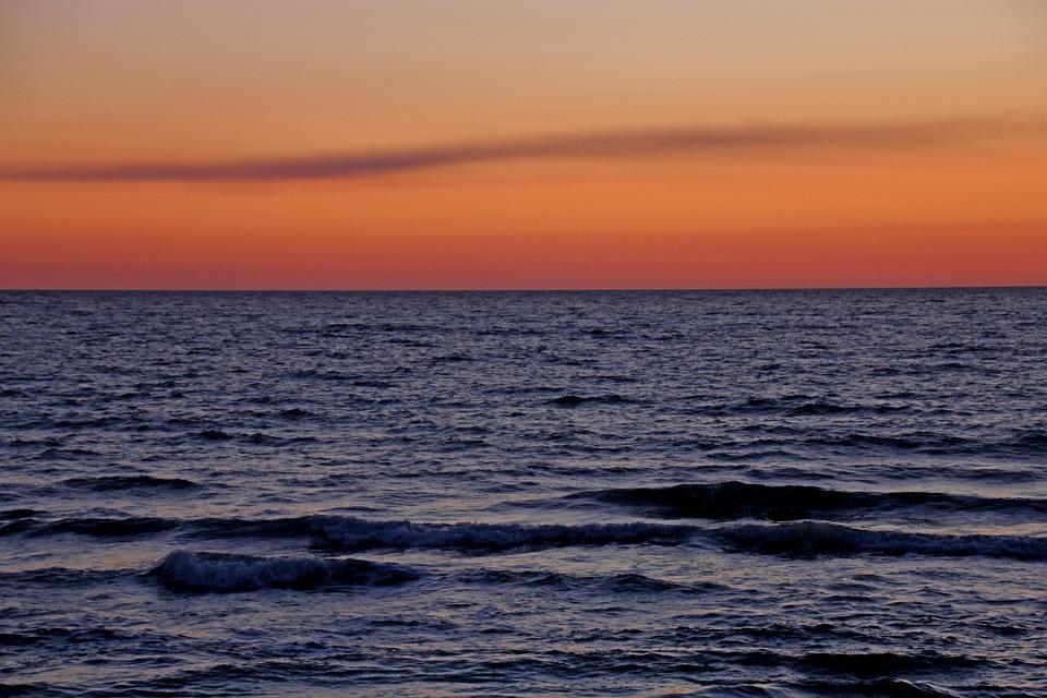 Sunset, Sea, Mood, Nature, Background, Vacations, Water
