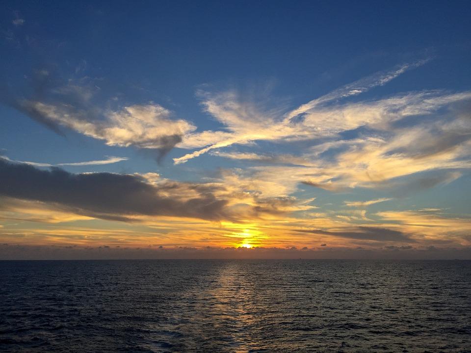 Sunset, Sea, Nature, Sun, Dawn, Dusk, Sky, Evening