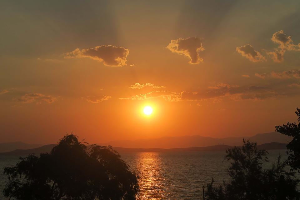 Nature, Sea, Landscape, Sunset