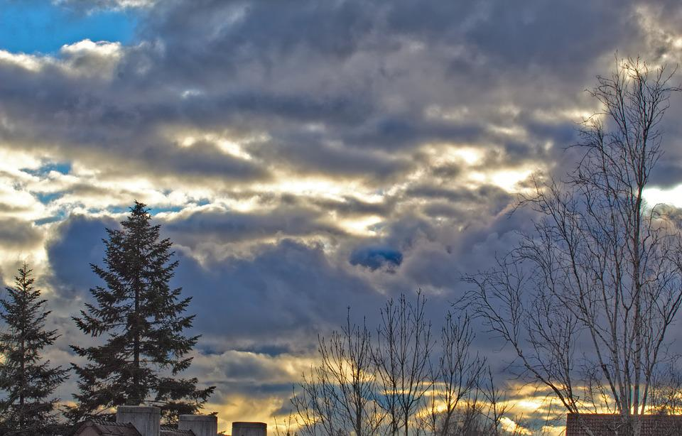Sky, Clouds, Sun, Landscape, Nature, Sunset, Weather