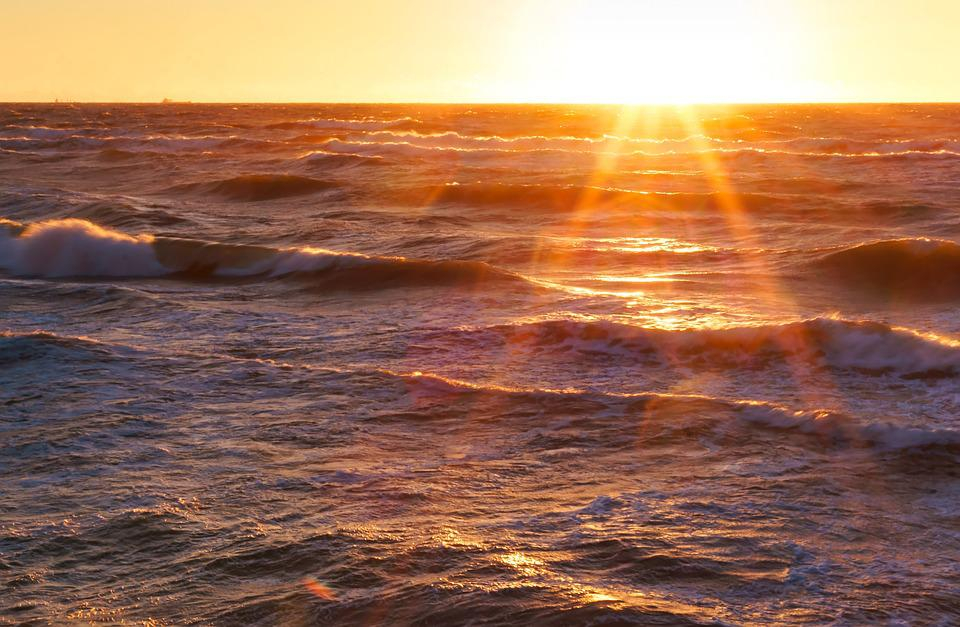 Sunset, Sea, Ocean, Sunrise, Nature, Background, Water