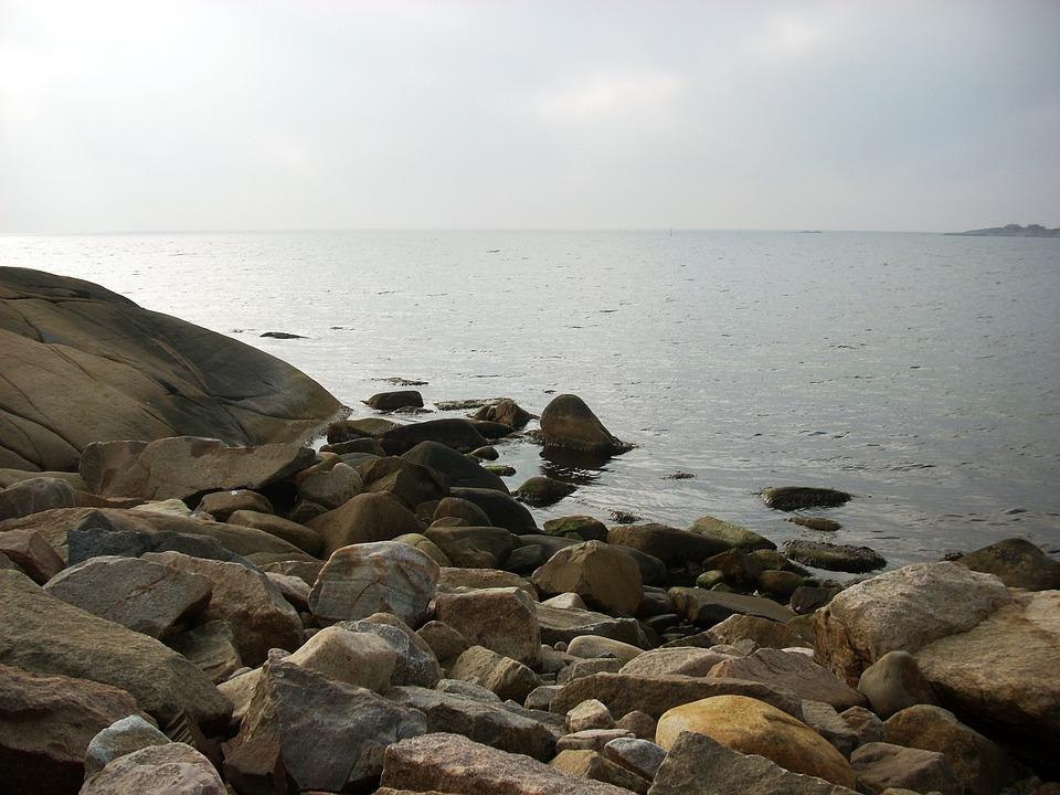 Sea, Ocean, Swedish, Varberg, Water, Nature, Coast