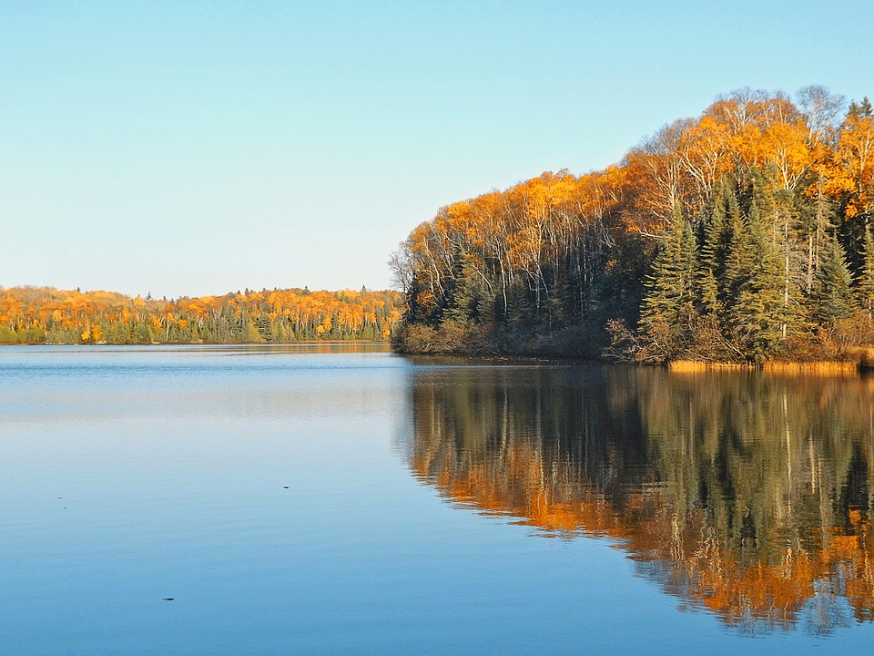 Autumn, Lake, Serene, Tranquility, Landscape, Nature