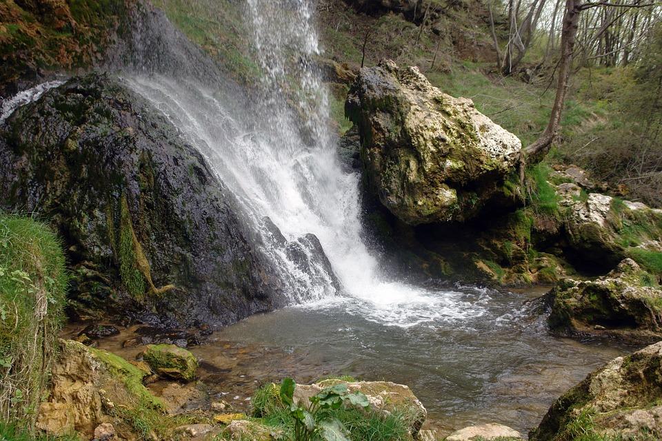 Waterfall, Water, Mountain, Nature, Fall, Green, Travel