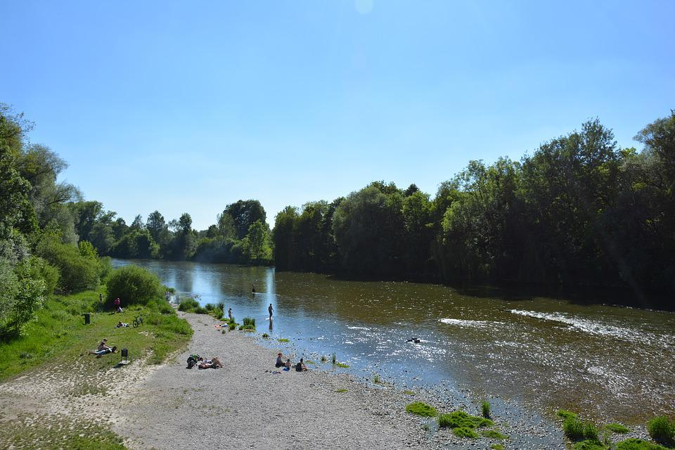 Waters, River, Tree, Nature, Landscape, Freising