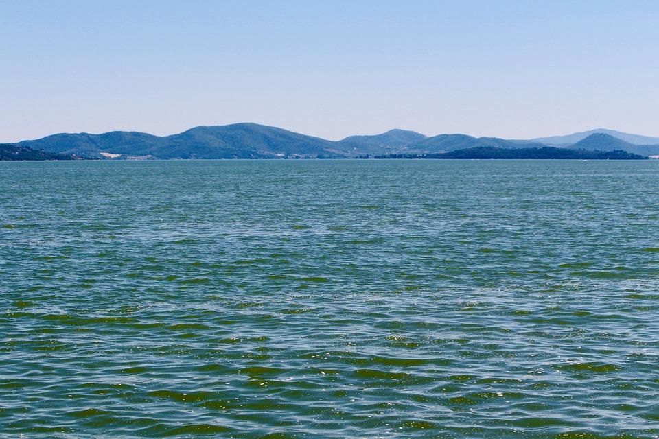 Lake Trasimeno, Summer, Lake, Italy, Umbria, Nature