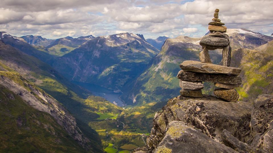 free photo nature wallpaper norway clouds landscape mountain - max pixel