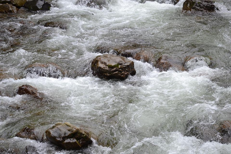 Stone, River, Water, Landscape, Nature, Bach, Stones