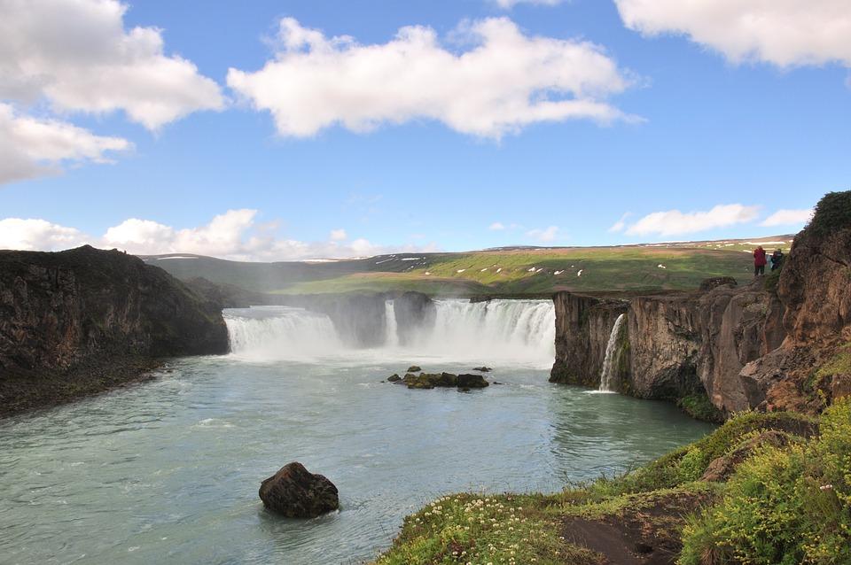 Waterfall, Nature, Iceland, Lan, Landscape, Water