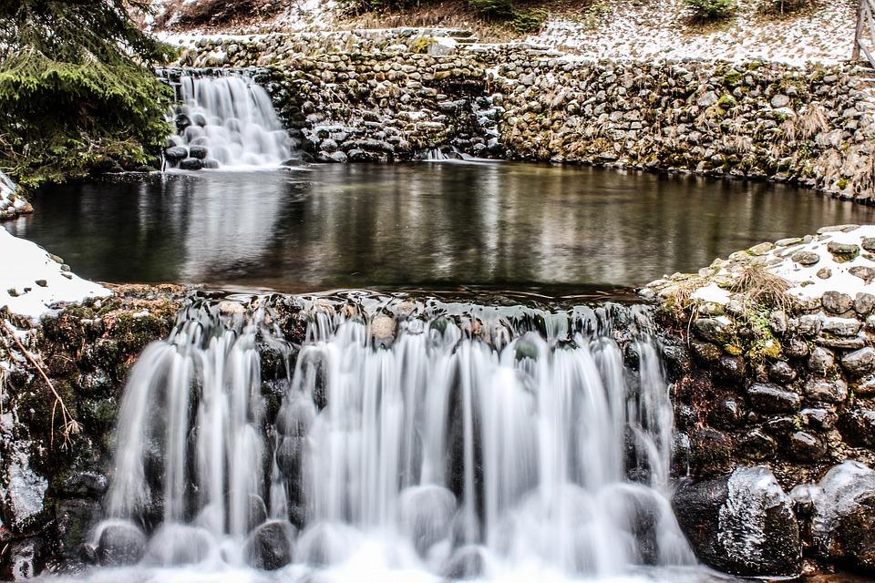 Water, Waterfall, Nature, Stream, River, Rock, Stone