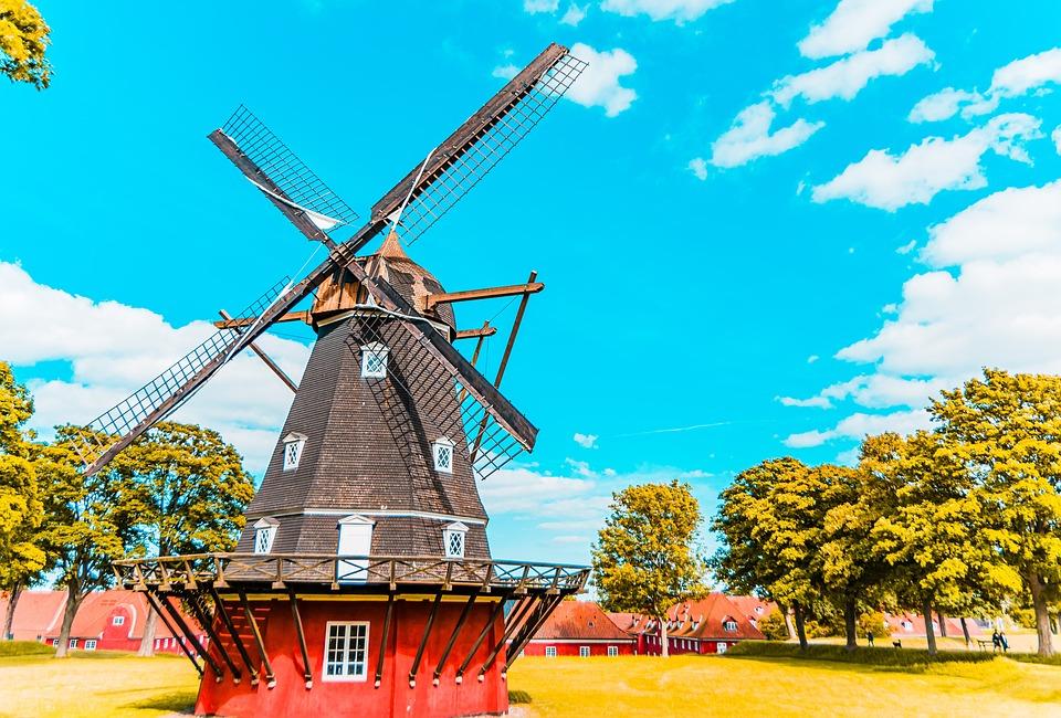 Copenhagen, Windmill, Green, Nature, Energy, Wind