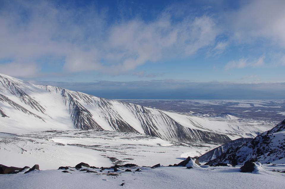 Mountains, Landscape, Nature, Kamchatka, Snow, Winter