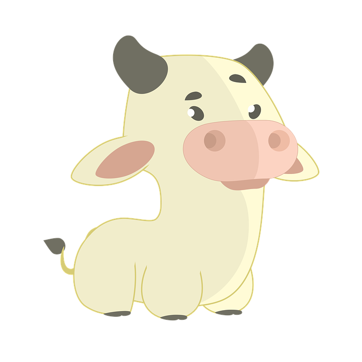Cow, Bug, Animal, Nature, Cute, Yellow, Animals