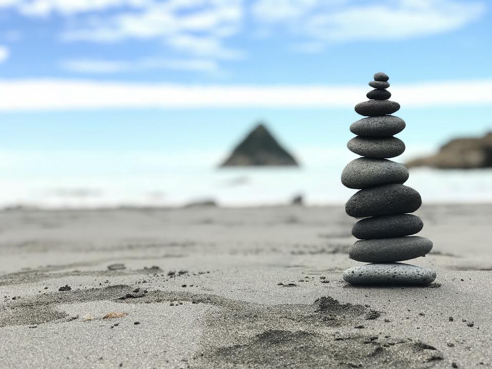 Balance, Stability, Zen, Nature, Beach