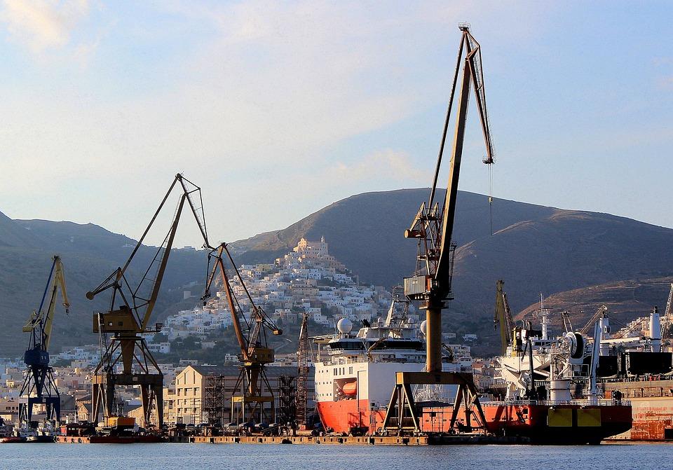Syros, Yard, Neorio, Nautical, Shipping, Ship, Yards