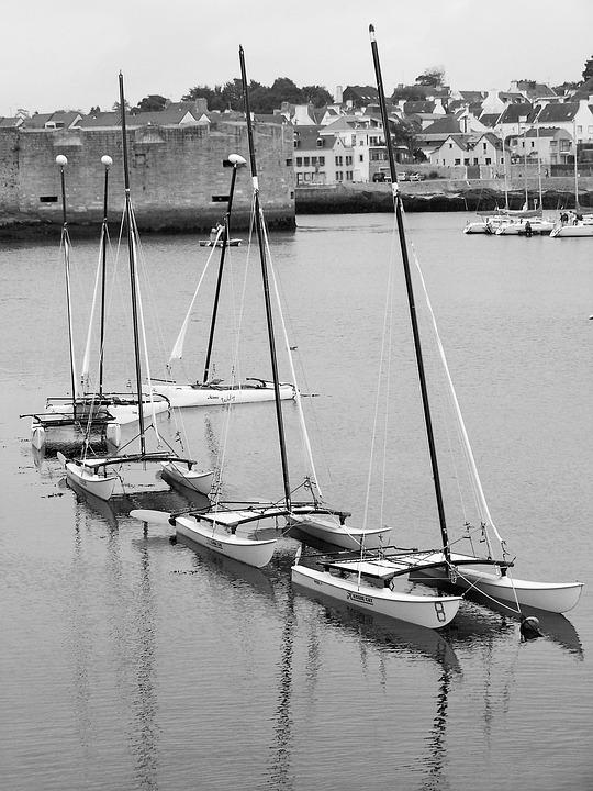 Catamaran, Sailboat, Mats, Sails, Navigation, Sea, Boat