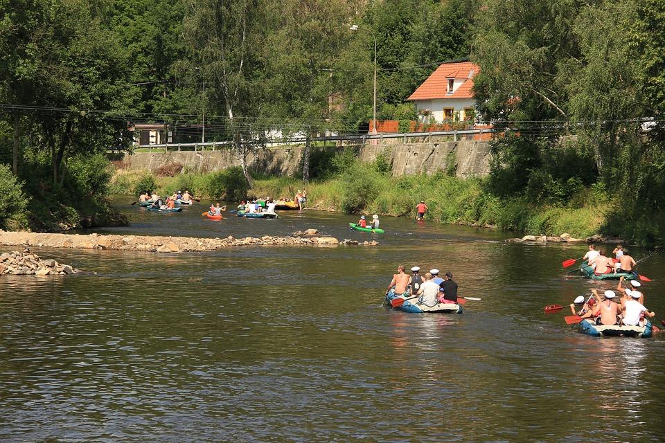 Rowboat, Water, Canoeing, Navigation, Summer