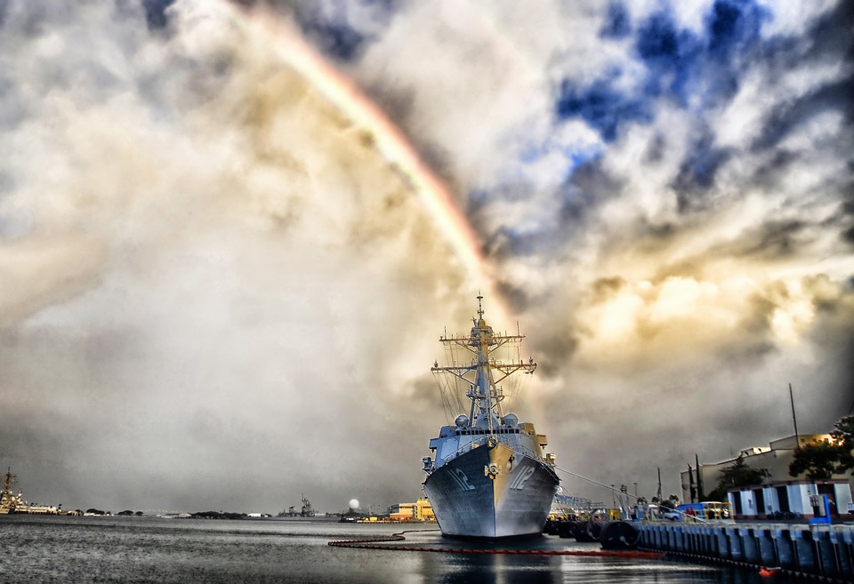 Pearl Harbor, Hawaii, Rainbow, Ship, Navy, Military