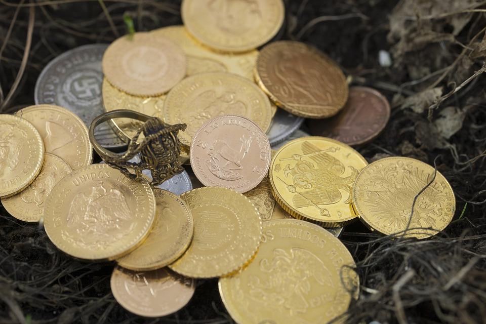 Gold, Nazi, Treasure, Money, Coins, Specie, Silver