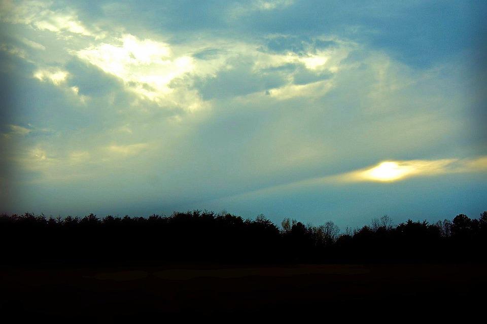 Cloudy, Clouds, Heaven, Sky, Nebula, Sunset, Twilight