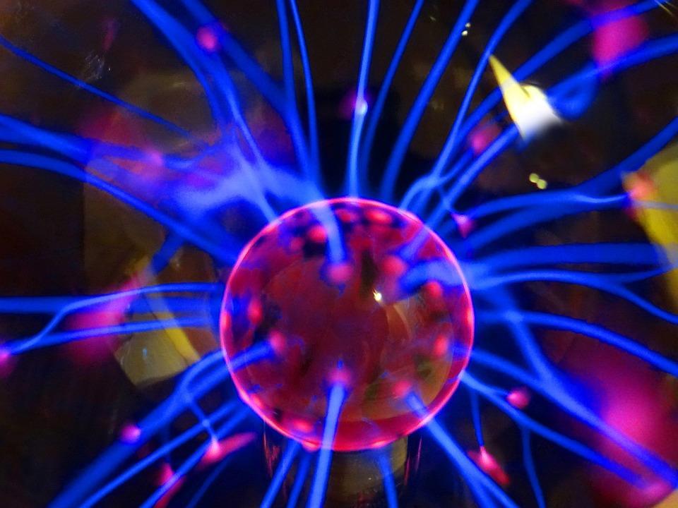 Nebula Plasma Ball, Color, Electric, Touch, Neon, Light