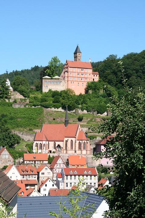 Hirschhorn, Neckar, Castle
