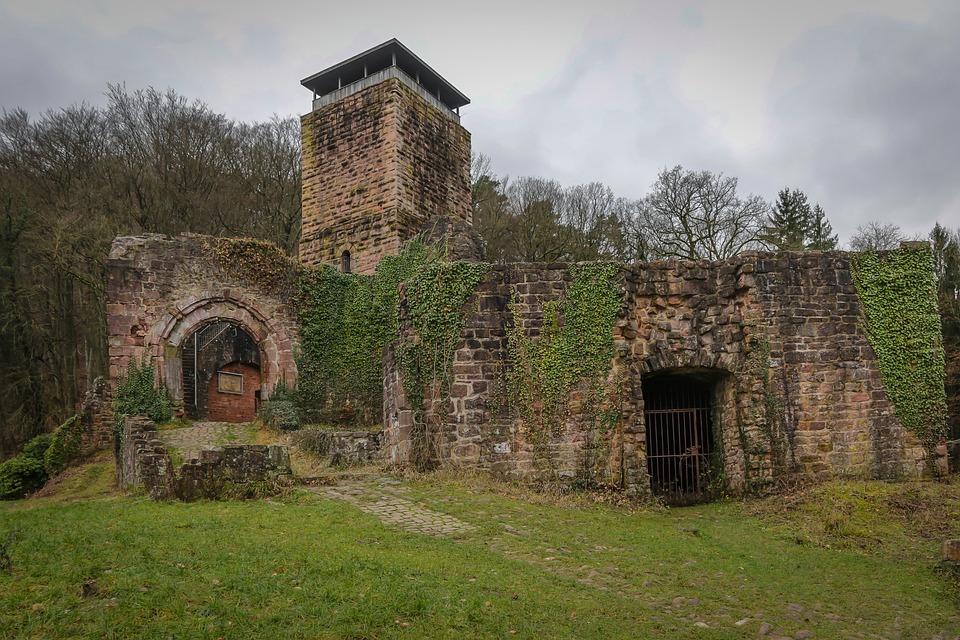 Neckarsteinach, Castle, Ruin, From Behind The Castle