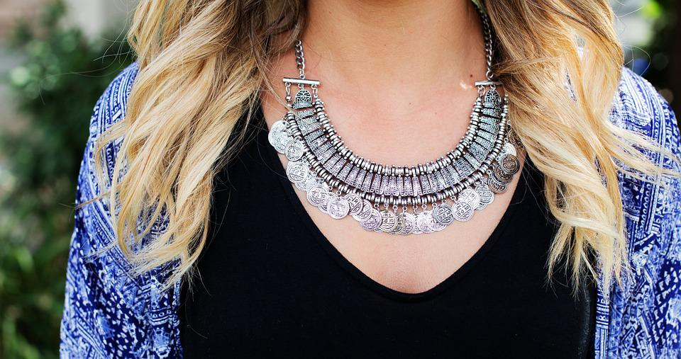 Necklace, Jewelry, Silver, Woman, Pretty, Elegant