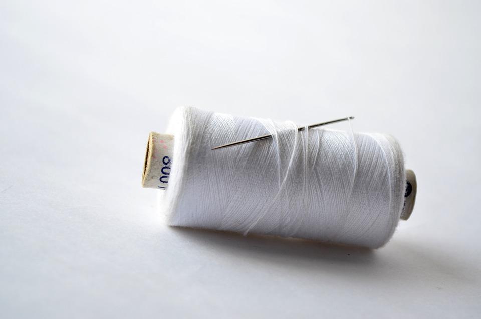 Thread, Spool, Needle, Sew, White, Yarn, Sewing