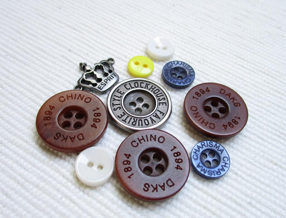 Buttons, Hobby, Needlework, Button, Colored Buttons