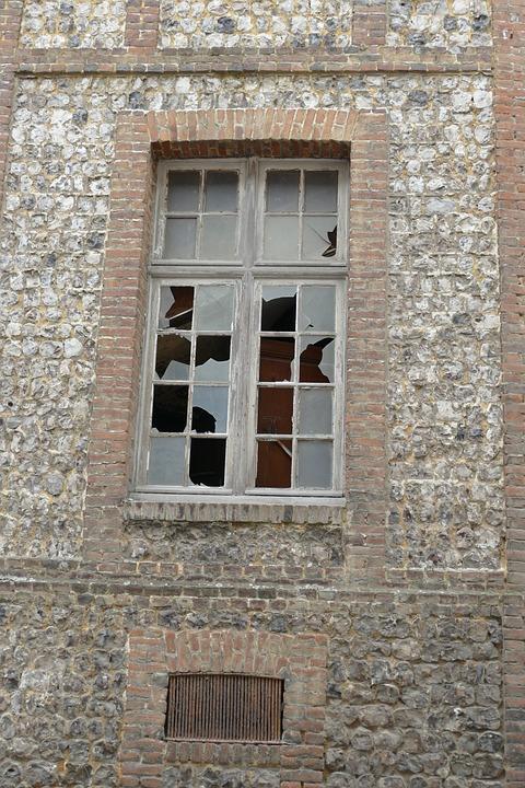 Window, Broken, Facade, Expired, Neglected, Old