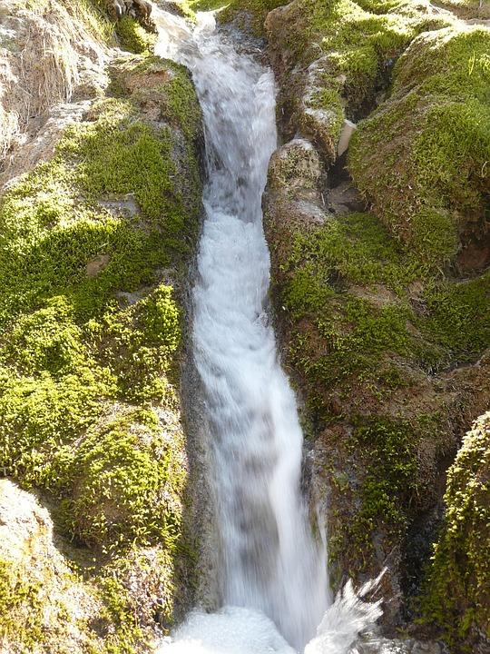 Neidlinger Waterfall, Bach, Creek, Water, Bubble, Tufa